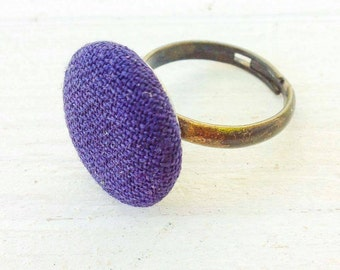 Ring Boho Vintage retro Recycling-fashion wool Wolle