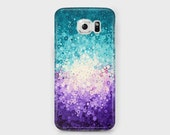 Bluebells Teal & Purple Samsung Phone Case - Purple Teal Turquoise and White Samsung Phone Case - Galaxy S4/S5/S6/S7 Edge Ace