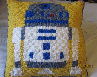 R2-D2 Inspired Lounge Pillow - Made to Order