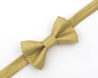 Gold bow tie, metallic gold bow tie, gold wedding, ring bearer bow tie, boys gold bow tie, toddler bow tie, baby bow tie, boys bow tie, gold