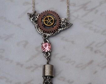 Antique Gears Steampunk Necklace - Jewellery - Jewelry