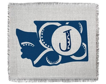 Personalized Washington State Throw Blanket, Woven Tapestry Throw, Washington State, Portland blanket, bedding