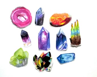 Gemstone/crystal (Set of 10 stickers)