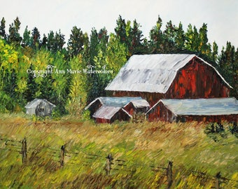 Barns in northern Wisconsin
