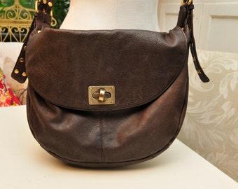 Studded Brown Leather handbag