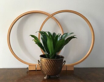 Wooden Embroidery Hoops ~ 2 Large