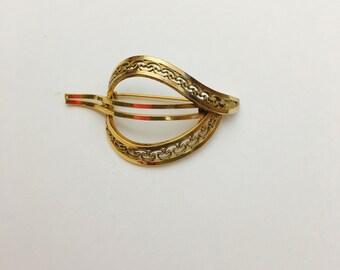 Vintage WINARD filigree brooch, gold filled, stamped, Pre Holiday Sale, item No. S469