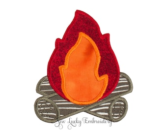 Camp Fire Patch - Camping Patch - Fire Patch - Camp Fire Applique - Embroidered Patch - Iron On Patch - Sew On Patch - Patch