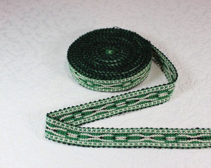 Woven Trim (6 yards), Woven Border, Cotton Ribbon, Grosgrain Ribbon, Dress Border, Border Trim, R152