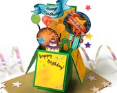 Bespoke Birthday Box Card for All Ages | Foldable Birthday Card | Box Card | Pop Up Box | 3D Box | Card in a Box