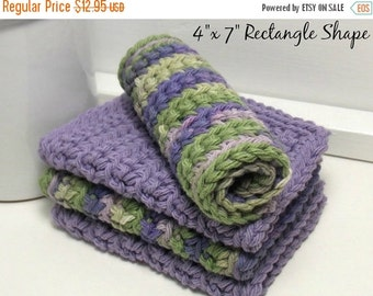 Clearance sale Purple Dishcloths - Crochet Cotton Dishcloths - Vineyard Dishcloths - Set of 4 American Cotton - Gifts Under 15