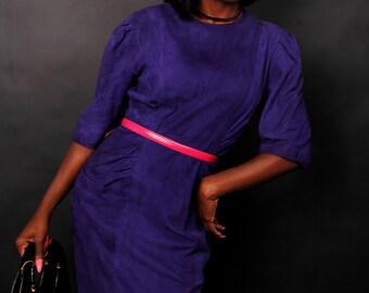 Wow!   Purple Suede Dress.