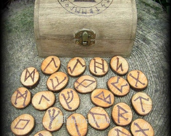 Blackthorn Rune Chest - Divination, Witchcraft, Magic, Norse,