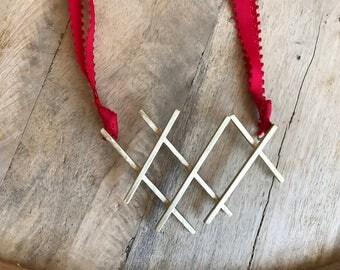 Anniissa Necklace - Statement Handmade Brass Necklace