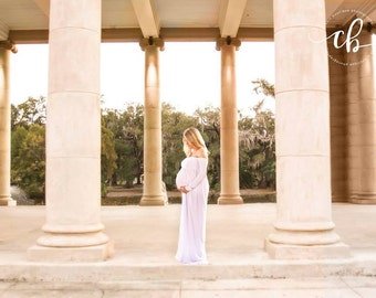 Maternity Gown, Closed Belly Gown, Wedding Gown, Shower Gown, Photo Prop, Homemade