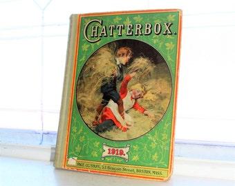 Antique Children's Book Chatterbox 1919
