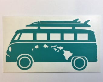 Surfer Van Hawaiian Decal
