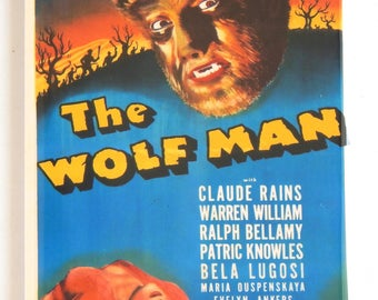 Wolf Man Movie Poster Fridge Magnet