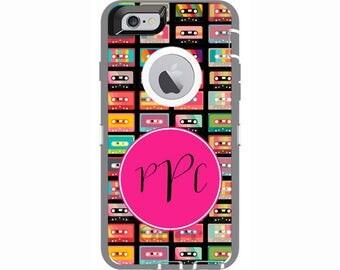 iPhone 6 & iPhone 6s Retro Cassette Tape Otterbox Defender Phone Case