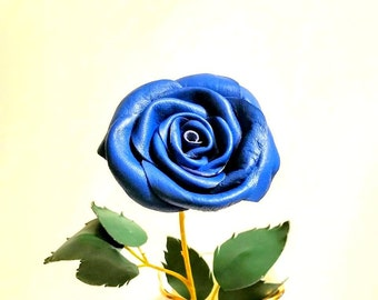 Blue rose long stem etsy for Blue long stem roses