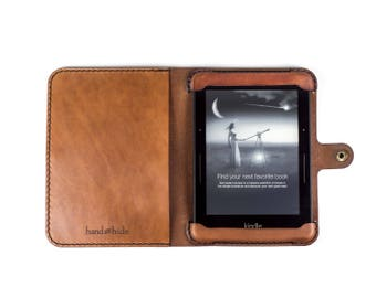 Kindle 8th Generation Leather Case / kindle cover / personalized kindle case / gift for her / 3rd anniversary