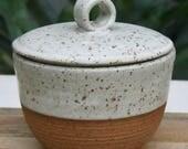 rustic lidded sugar basin/made to order