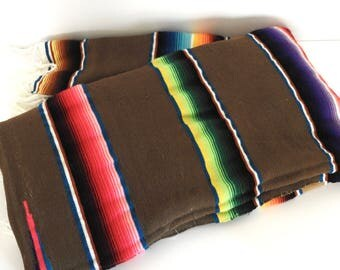Vintage Mexican Serape Saltillo or Blanket
