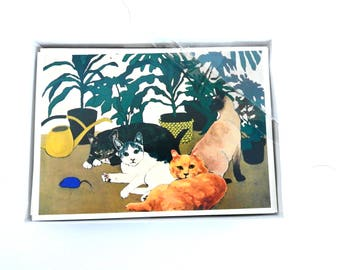 Vintage Cat Cards- Blank Cards