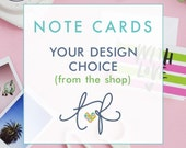 Note Cards Your Design Choice, Custom Note Card, Personalized Thank You Card