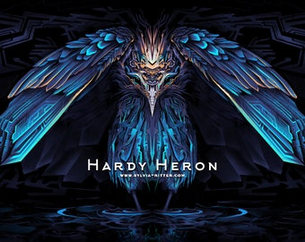 Hardy Heron - Signed Giclée Print