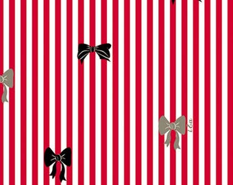 Ink & Arrow by Quilting Treasures - It's All About Me - Bow Stripe - Red