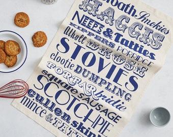 Scottish Dinner Tea Towel