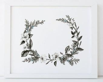 Botanical Art Print 8x10 Giclee Wall Art