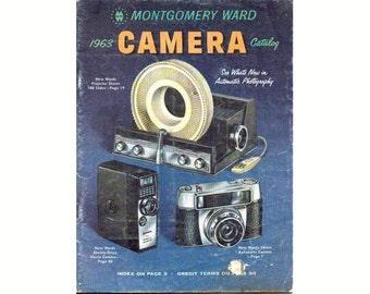 Vintage 1963 Montgomery Ward Camera Catalog Nikon Kodak Fotron