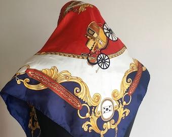 Vintage Hermes look kerchief Hermes print Kerchief Japan Hermes look Beautiful Kerchief Vintage Kerchief
