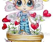 INSTANT DOWNLOAD Digital Digi Stamps Big Eye Big Head Dolls Scan0122 My Besties By Sherri Baldy