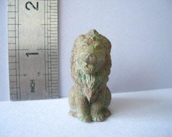 1:12th Lion Garden Statue Dolls House Miniature Garden