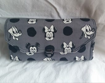 Black, White, Gray Mickey Mouse Wallet  Necessary Clutch Wallet