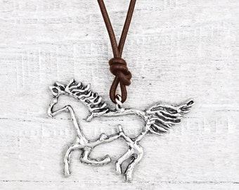 Wild and Free Necklace -Horse Necklace - Free Spirit Jewelry - Equestrian Jewelry - N718