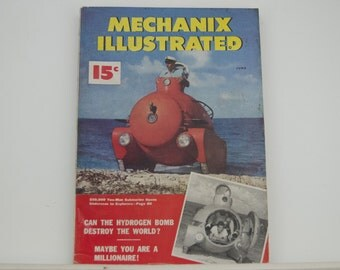 Mechanix Illustrated Magazine, June 1950 - Great Condition, Tips,  Science, Technology, Hundreds of Vintage Ads