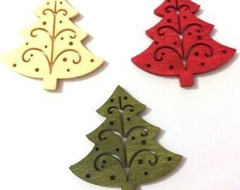 Christmas Needle Minder, Tree Needle Minder, Festive Needle Keep, Pin Holder, Fridge Magnet, Stitch Minder, Needle Holder,  Red Needle Keep