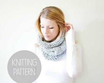 FLASH SALE knitting pattern - solomon cowl - instant download