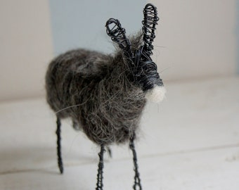 Wired donky from dark wool