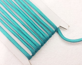 Bracelet cord 1.1 Yards (1 meter) turquoise blue paracord cord, Decorative Cord, braided cords, Parachute  Cord, Colorful cord, 4mm wide