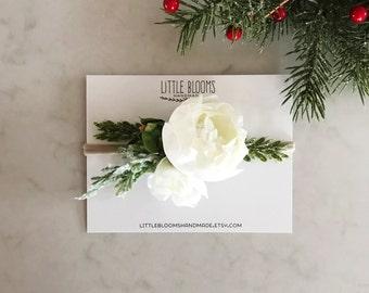 Winter White Bloom Headband