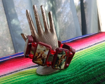 Hermes Wooden Devotional Bracelet. Pagan Polytheist Devotional Jewelry