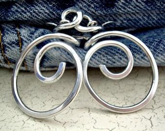 Wire Wrapped Jewelry Handmade Silver Wire Earrings Aluminum Wire Jewelry Silver Spiral Earrings Silver Wire Jewelry Aluminum Wire Earrings