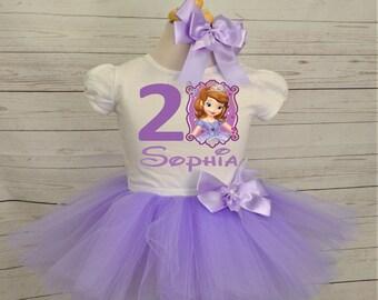 Princess sofia birthday outfit, FREE SHIPPING, sofia the first, purple, lilac, disney princess, birthday girl, birthday outfit