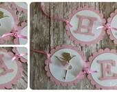CUSTOM LISTING- Lauren - Handmade pink ballet birthday banner