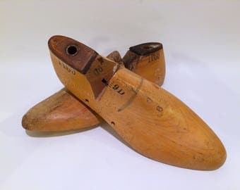 Vintage Wooden Shoe Molds